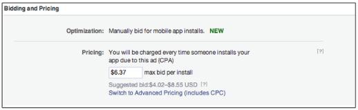 facebook mobile ads cpa