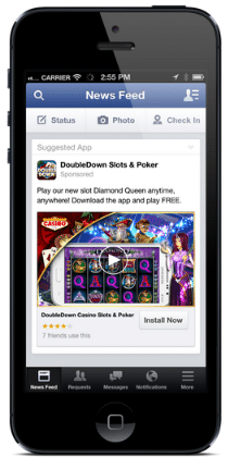 facebook mobile app install video