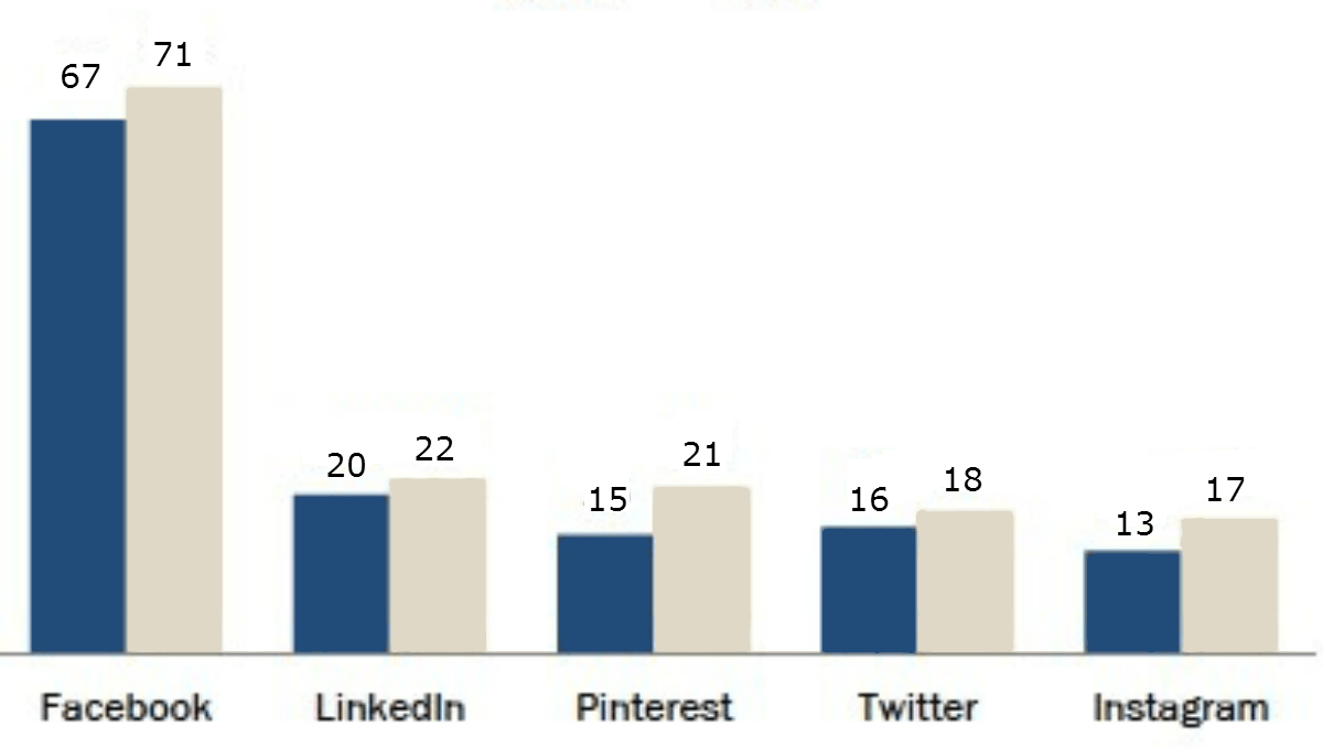 """פייסבוק – הרשת החברתית הנבחרת בארה""""ב גם ב 2013"""