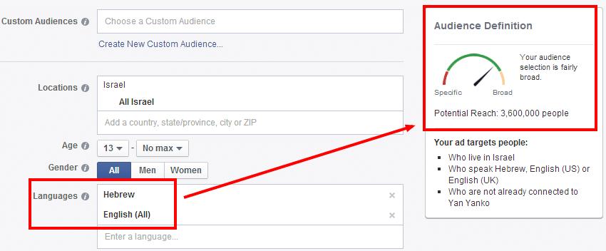 פילוח מודעות פייסבוק
