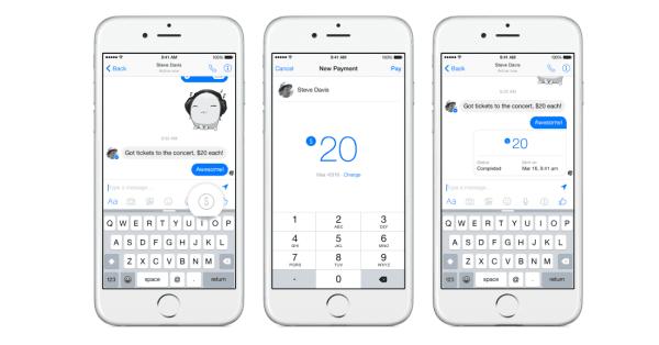 פייסבוק משיקים רשמית את האפשרות להעברת כספים במסנג'ר