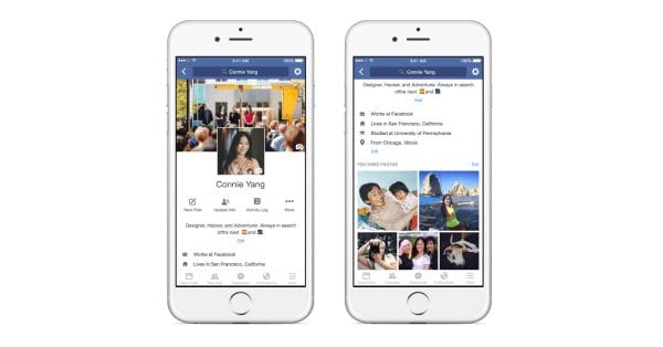 פייסבוק במקצה שיפורים לפרופילים האישיים