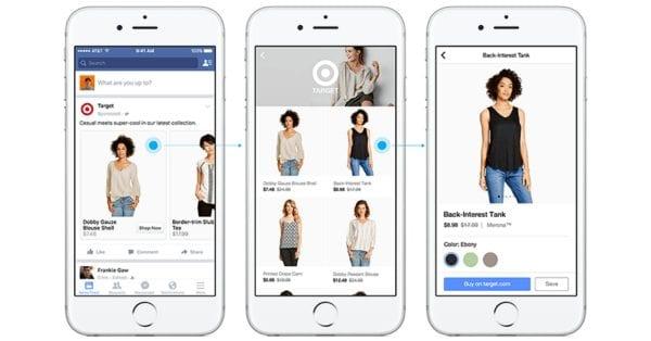 """פייסבוק משיקים מודעה חדשה לאיקומרס ואזור חדש באפליקציה שנקרא """"שופינג"""""""