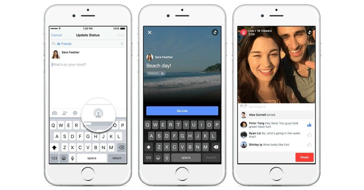פייסבוק עומדים לפתוח את האפשרות לשידור חי בוידאו לכולם